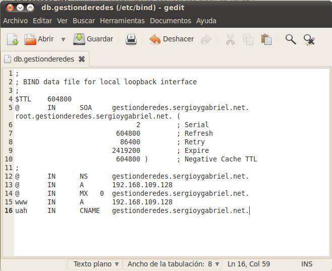 Configurar un servidor DNS (Bind) en Linux Ubuntu