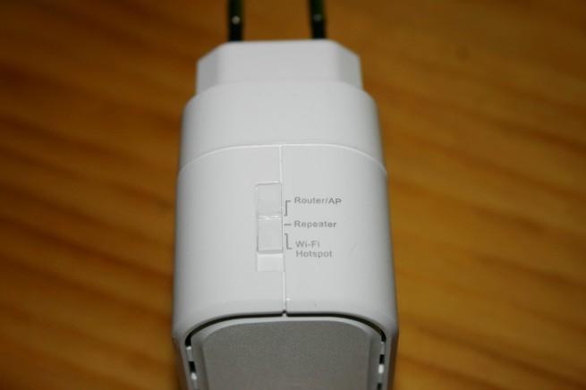Vista superior del D-Link DIR-505 selección de modos