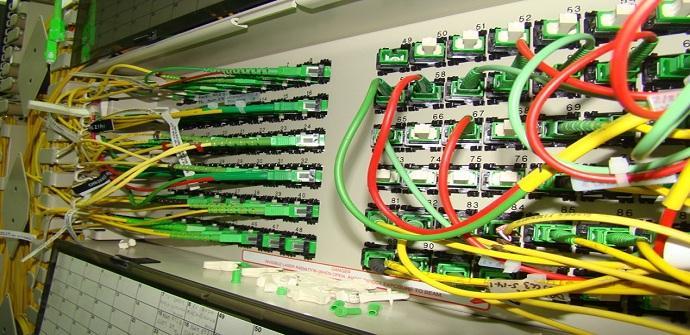 Panel de enlaces de fibra optica