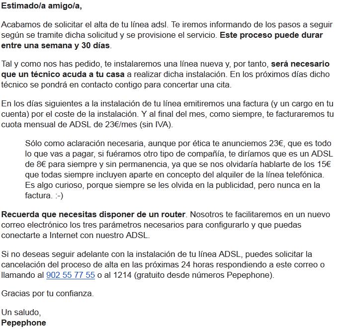 Contratar adsl de pepephone alta en el servicio de adsl con pepephone - Contratar solo internet en casa ...