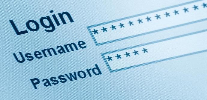 Usuario y contraseña de una página web