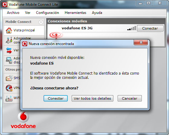 how to connect vodafone usb modem to pc