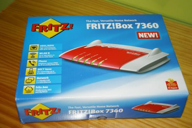 Vista general de la caja del FRITZ!Box 7360