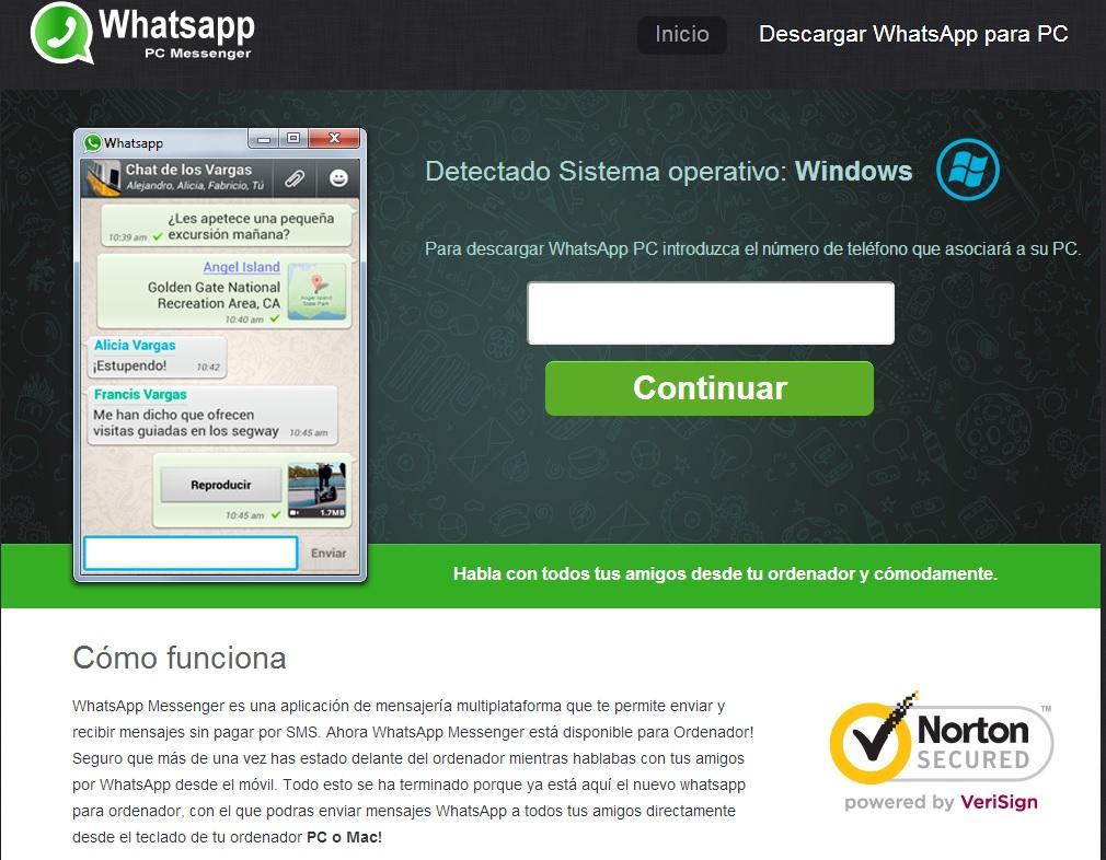 descargar whatsapp web para pc windows 10