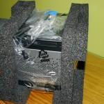 Vista frontal del servidor HP ProLiant MicroServer Gen8 perfectamente protegido