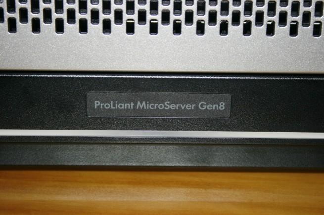 Vista del modelo del HP ProLiant MicroServer Gen8