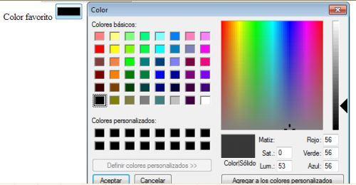 curso de html y css colores