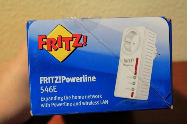 Parte superior de la caja del FRITZ! Powerline 546E