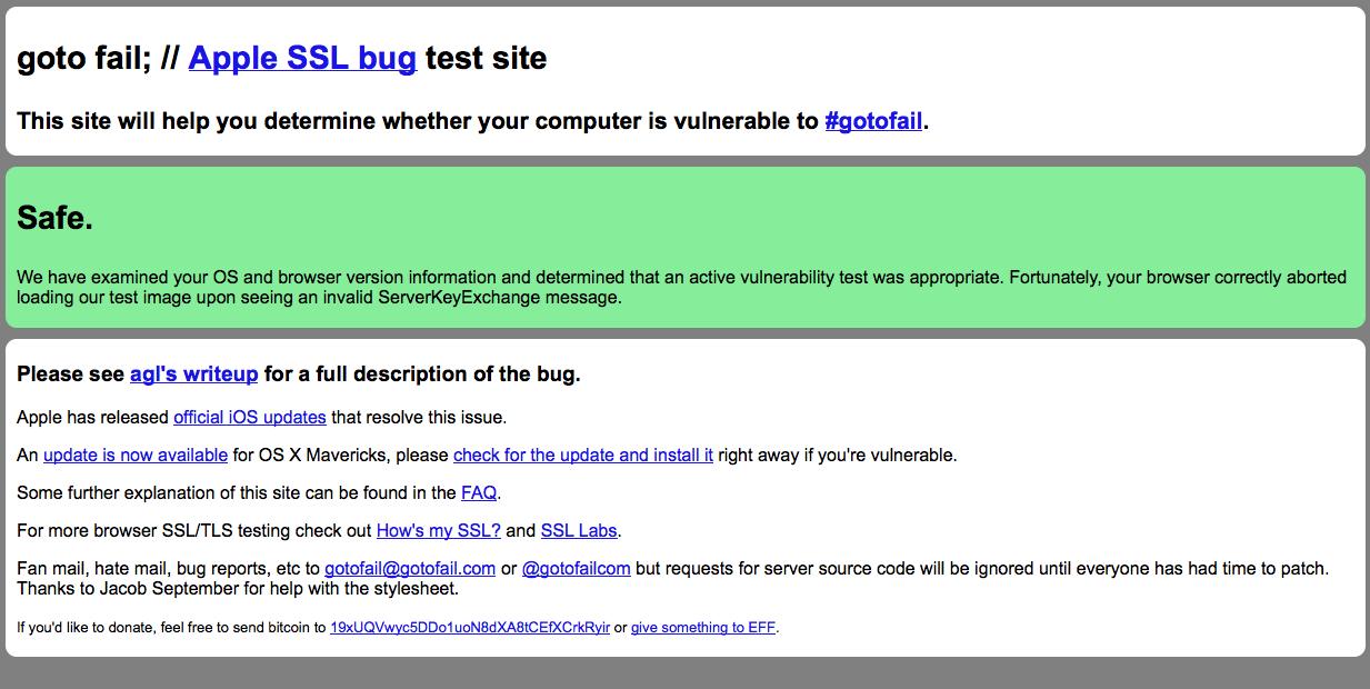Mac OS X 10.9.2 resuelve el problema de seguridad vinculado a SSL