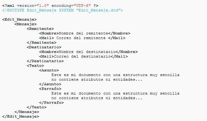 curso de html y css ejemplo archivo xml