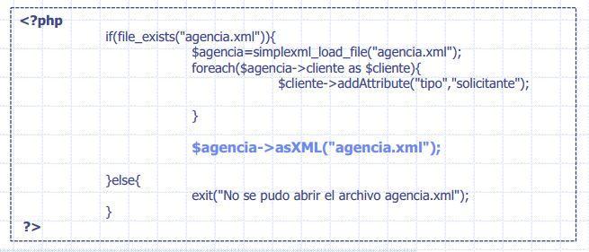 guardar cambios ficheros XML