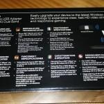 Vista trasera de la caja del adaptadoe Linksys WUSB6300