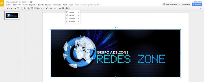 Google Drive Presentacion editor fotos
