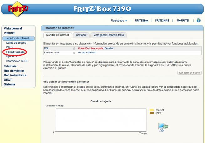 Manual abrir puertos DMZ FRITZ!Box 2