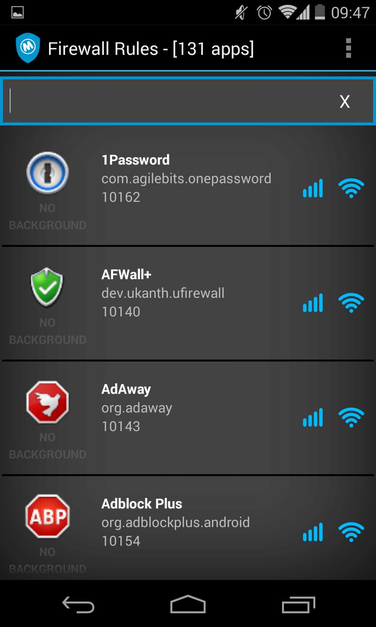 mobiwol el firewall para android que no necesita permisos root. Black Bedroom Furniture Sets. Home Design Ideas