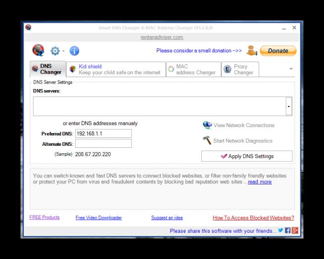 Smart DNS Changer tuto foto 1