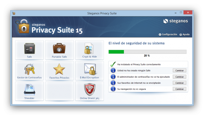 Steganos Privacy Suite 15 analisis foto 1