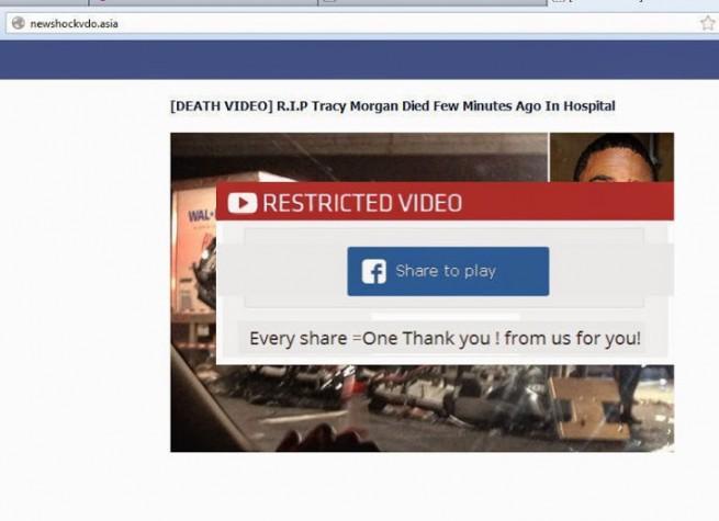 tracy morgan scam facebook