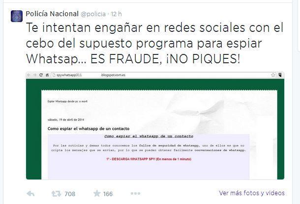 whatsapp spy timo campaña