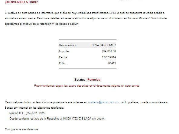 correo spam hsbc y bbva