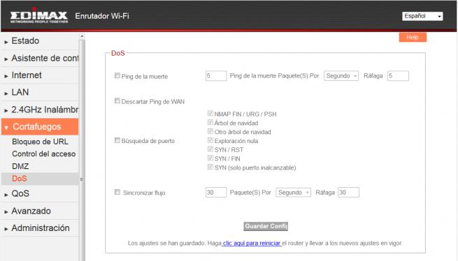 Firmware Edimax BR-6428nC : Modo Router