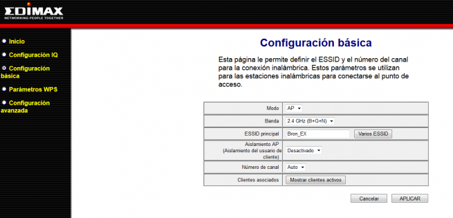 Edimax EW-7438RPn v2: Firmware modo AP