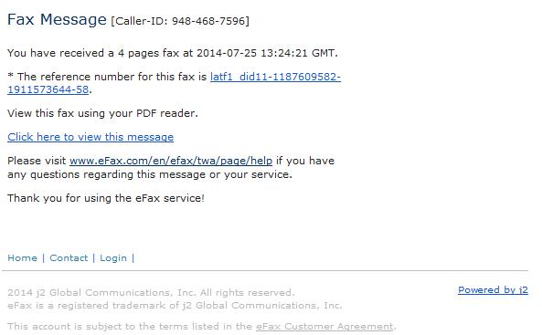 efax correo spam