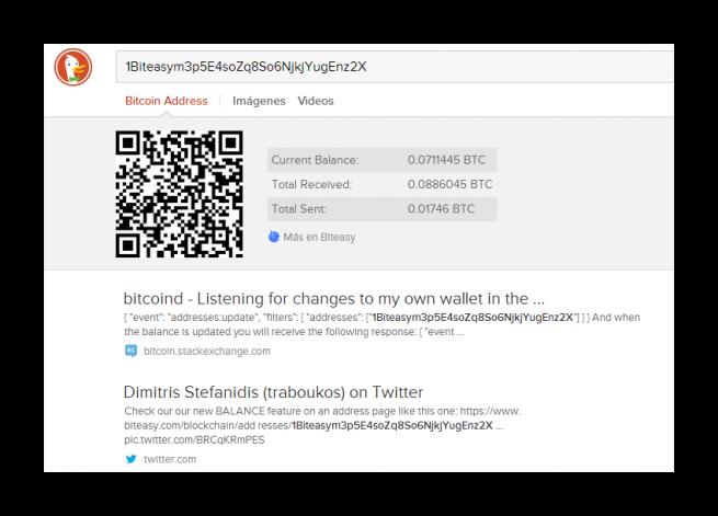 DuckDuckGo ya permite buscar direcciones Bitcoin BitCoin_DuckDuckGo_foto_1-655x471