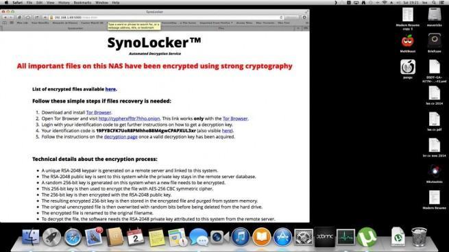 NAS synology hackeado synolocker
