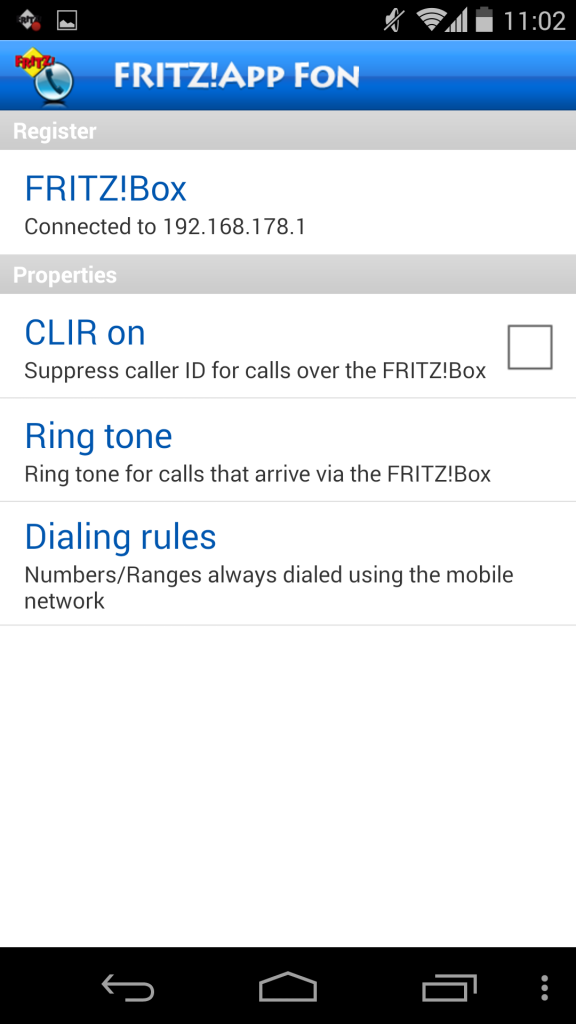Utilización de FRITZ!App Fon 7