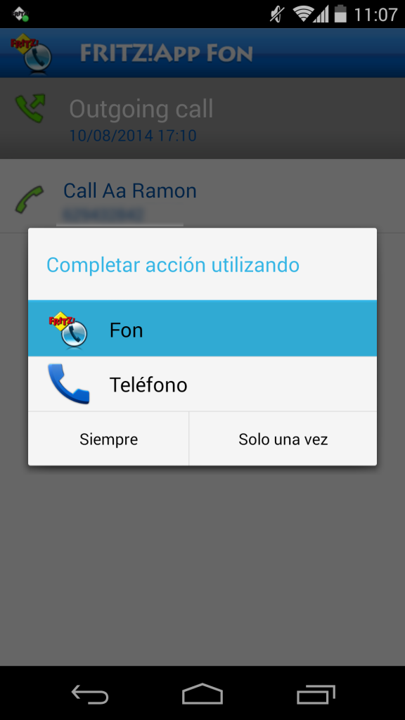 Utilización de FRITZ!App Fon 15