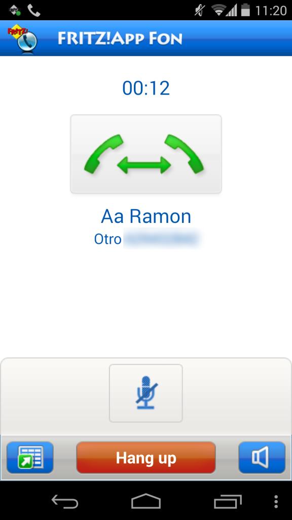 Utilización de FRITZ!App Fon 17