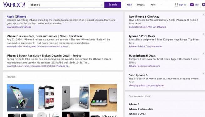 Yahoo! novedades motor de búsqueda
