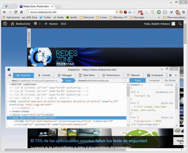 Google Chrome Firefox Herramientas Desarrollo foto 1