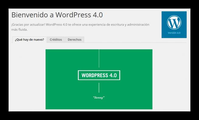 Wordpress 4.0 nuevo foto