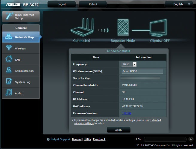 Firmware ASUS RP-AC52