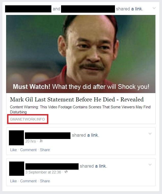 facebook scam últimas palabras famosos