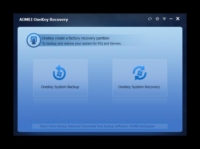 AOMEI OneKey Recovery tutorial foto 1