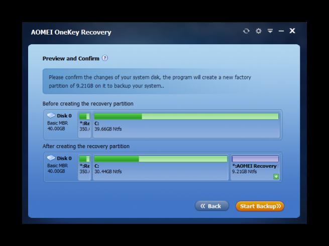 AOMEI OneKey Recovery tutorial foto 4