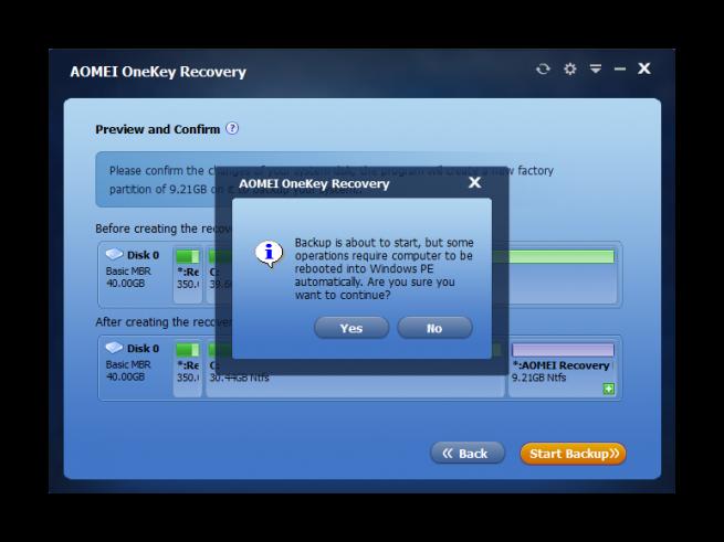AOMEI OneKey Recovery tutorial foto 5