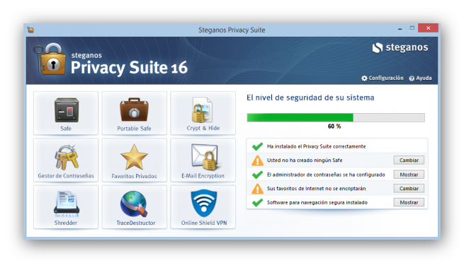Steganos Privacy Suite 16 analisis foto 1