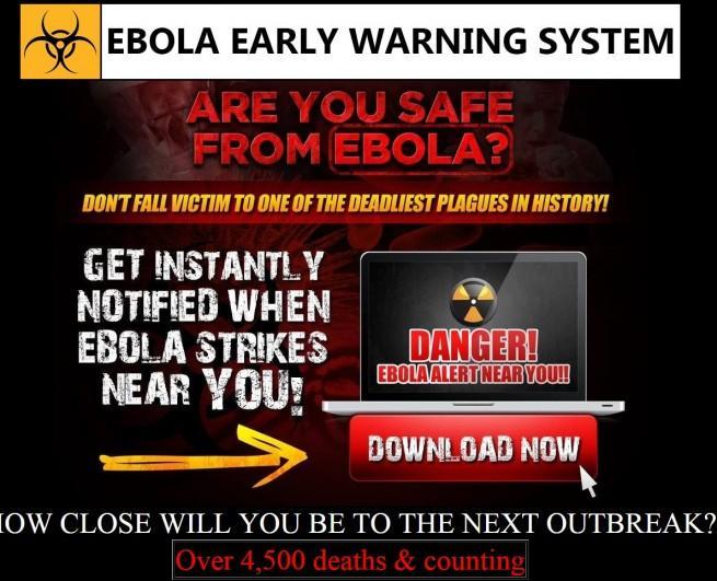ebola barra de herramientas falsa
