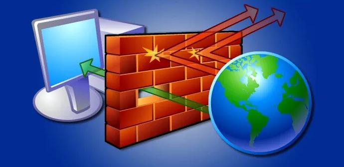 Imagen de un Firewall o cortafuegos bloqueando el tráfico