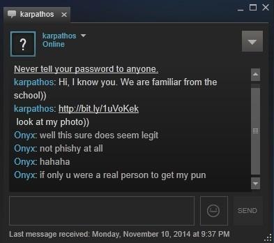 Credenciales de steam robado con un malware