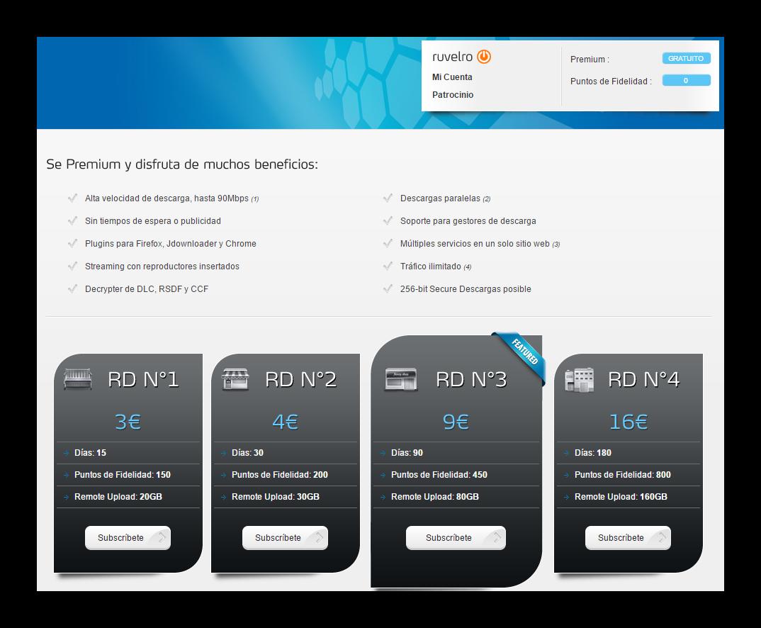 Descarga archivos como usuario premium con Real Debrid