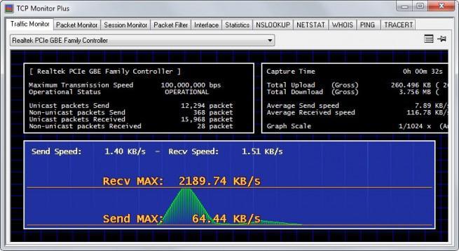 TCP Monitor Plus para windows