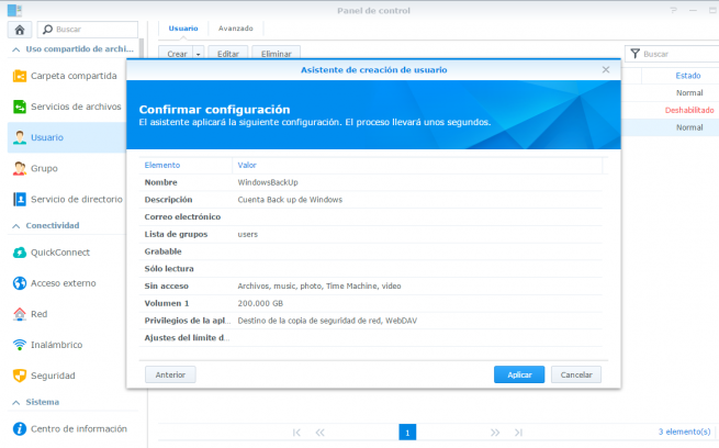 copia de seguridad de windows en synology nas 8