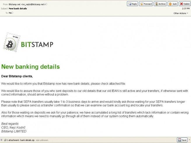 upatre malware distribuido en correos bitstamp