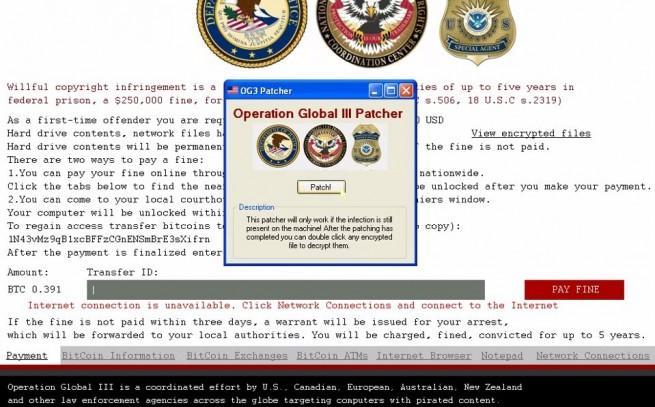 OG3 malware cifrado herramienta para liberar ficheros