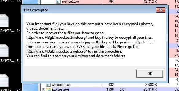 ophion locker mensaje mostrado al usuario